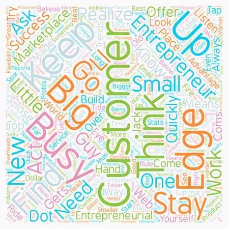 The Entrepreneurial Edge text background wordcloud concept Illustration