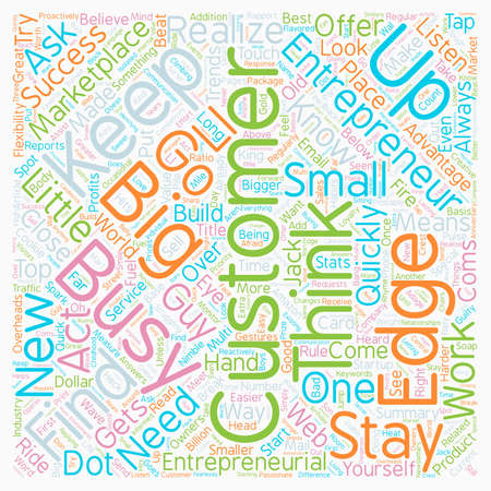 The Entrepreneurial Edge text background wordcloud concept Ilustrace