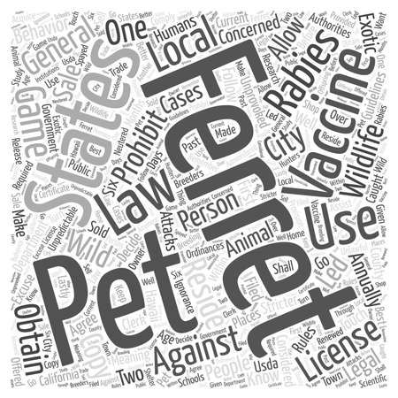 The Laws On Ferrets Word Cloud Concept