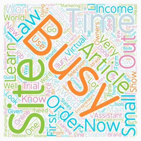 tremendous: The Law and Order Approach text background wordcloud concept