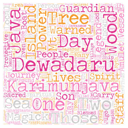 The Legend of the Dewadaru Tree text background wordcloud concept
