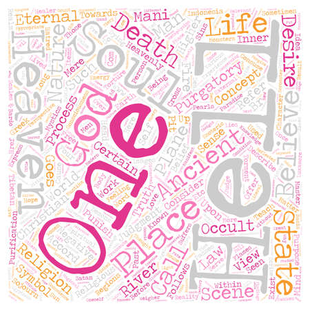 The Metaphysical View of Death and Life After Death Part 3 text background wordcloud concept