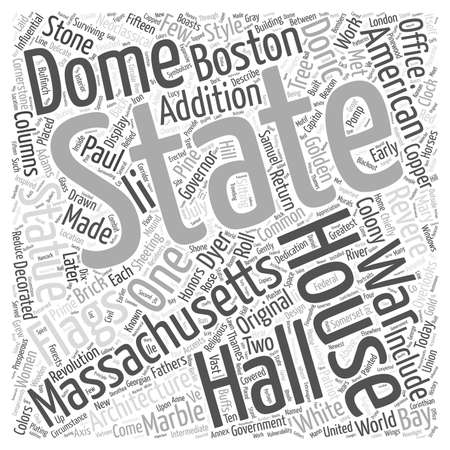 The Massachsetts State House Word Cloud Concept