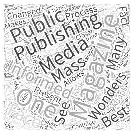 read magazine: The wonders of magazine publishing Word Cloud Concept Illustration