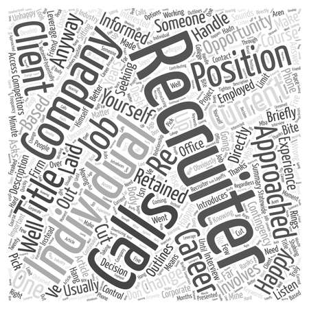 retained: When The Recruiter Calls Word Cloud Concept