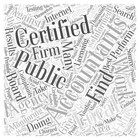 listings: Where to Find Certified Public Accountants Word Cloud Concept