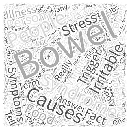 bowel: what is irritable bowel syndrome Word Cloud Concept