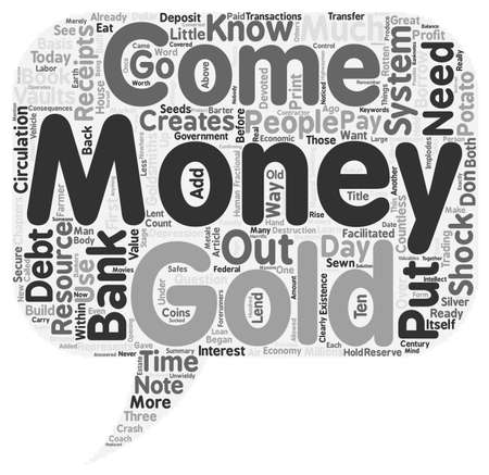 Where Does Money Come From text background wordcloud concept