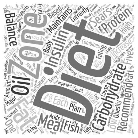 sears: What Is The Zone Diet text background wordcloud concept Illustration