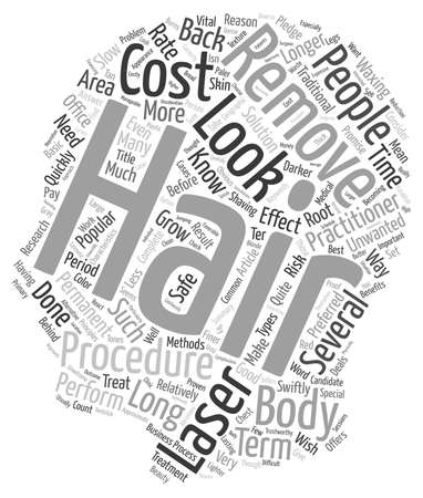 longterm: What The Cost Of Laser Hair Removal Can Mean For Your Treatment text background wordcloud concept