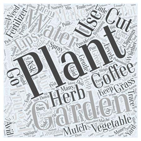 熱心な野菜庭師単語クラウドの概念をあるかどうか  イラスト・ベクター素材