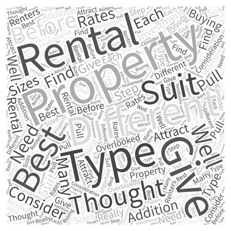 before: What to Consider before Buying Investment Rental Property Word Cloud Concept Illustration