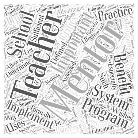 limitations: what is teacher mentoring Word Cloud Concept Illustration