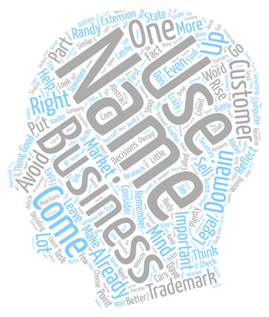 catchy: What s In A Name When It Comes To Your Business Plenty text background wordcloud concept