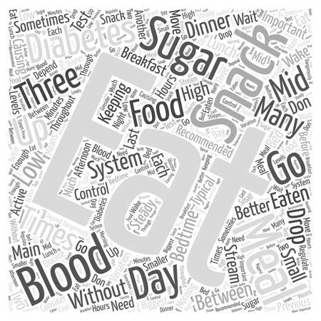 When to Eat when you have Diabetes Word Cloud Concept Çizim