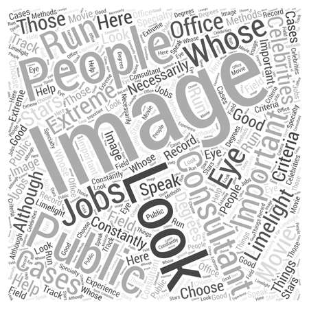 limelight: What to Look for in Image Consultants Word Cloud Concept