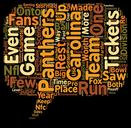 What Will Carolina Panthers Tickets Be Worth For The Rest Of 2006 text background wordcloud concept