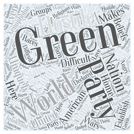 What is the Green Party Word Cloud Concept