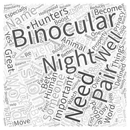 Lo que es tan grande sobre la visión nocturna binoculares Word Cloud Concepto