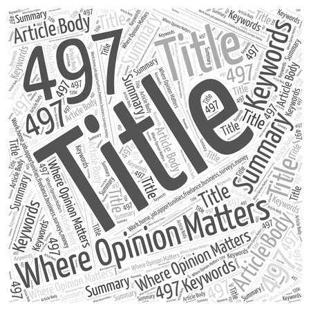 discretion: Where Opinion Matters Word Cloud Concept Illustration