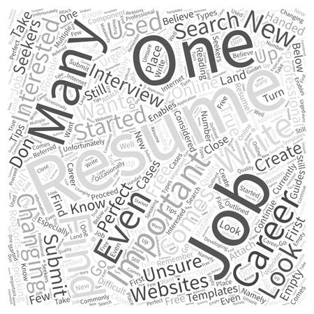 empty handed: What to Do If You Dont Know How to Write a Resume Word Cloud Concept