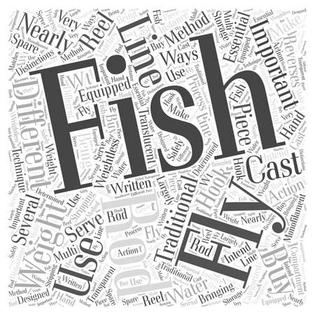 distinctions: Which Fly Fishing Rod Should You Buy Word Cloud Concept