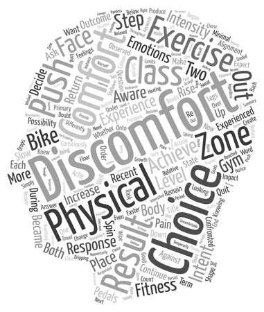 Waarom Stap uit je comfort zone tekst achtergrond wordcloud begrip