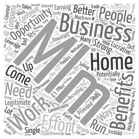legitimate: Work From Home MLM Business Opportunity Word Cloud Concept