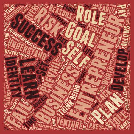 Why Entrepreneurs Fail text background wordcloud concept Illustration