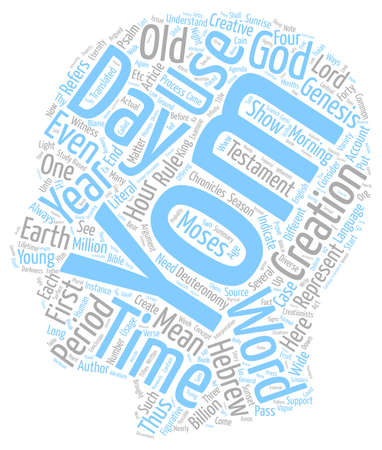 Word Study Yom text background wordcloud concept