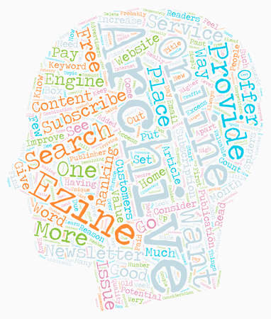 Why You Should Archive Your Ezines and Newsletters Online text background wordcloud concept Illustration