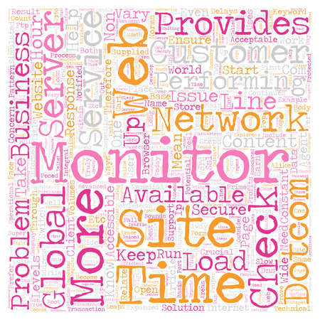 Why Dotcom Monitor Service Is Crucial to e Business text background wordcloud concept
