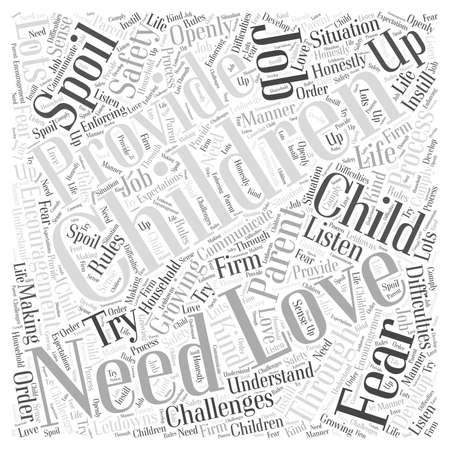 You Cant Zepsuj dziecko poprzez miłość Word Cloud Concept