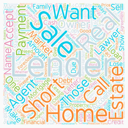 Why Would a Lender Do a Short Sale - text background word cloud concept.