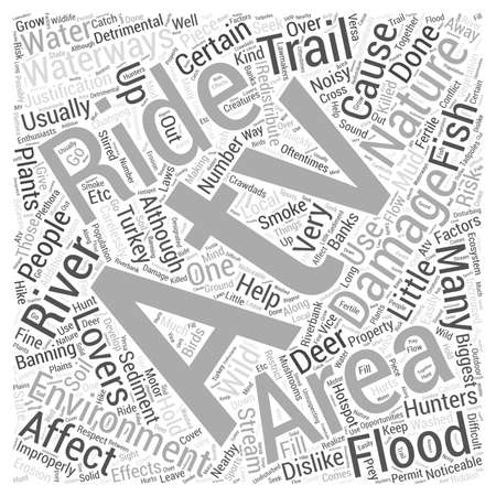 Why some people dislike atv riding in nature areas Word Cloud Concept