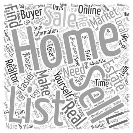 Why It s Never Been Easier To Sell Your Own Home text background wordcloud concept