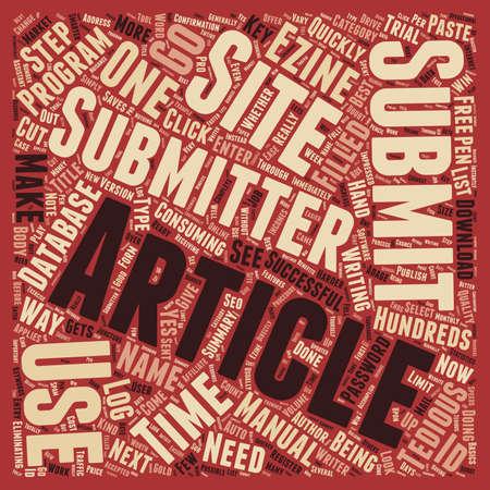 soumis: Oui, vous avez besoin d'un texte de fond concept wordcloud Article Submitter Illustration