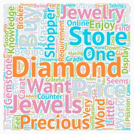 Why Jewelry Stores Dislike Knowledgeable Customers text background wordcloud concept