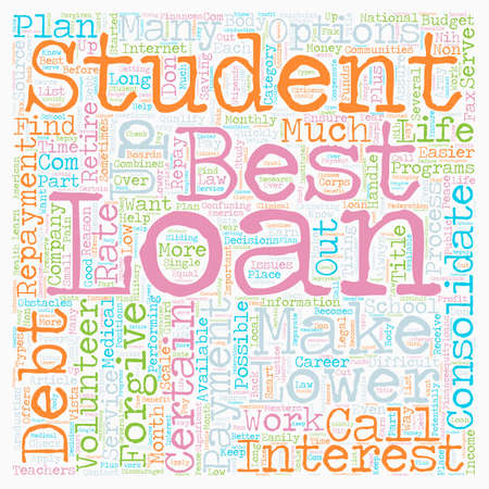 Why Consolidate Student Loans text background wordcloud concept