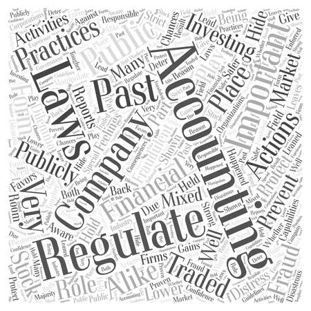 role play: Why Regulate Accounting Word Cloud Concept Illustration