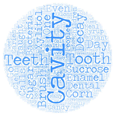 Xylitol the Cure for Caries text background wordcloud concept