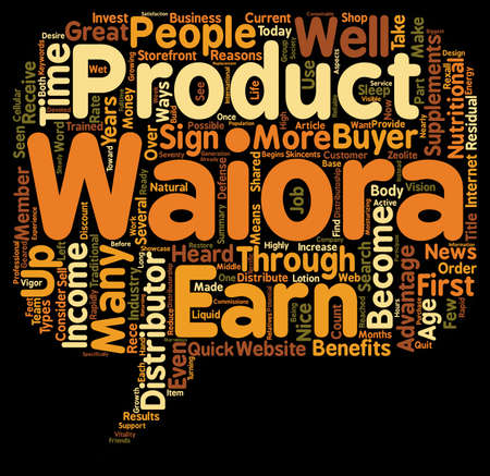 Why Become A Waiora Distributor text background wordcloud concept Illustration