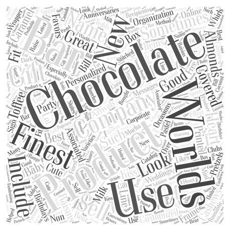 finest: worlds finest chocolates Word Cloud Concept