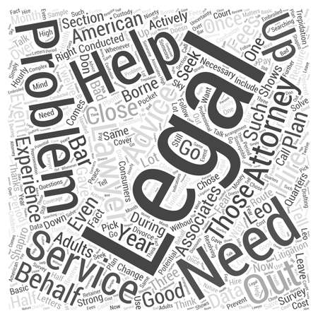 Why you need legal help Word Cloud Concept