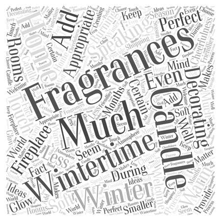 Wintertime Home Decorating Word Cloud Concept