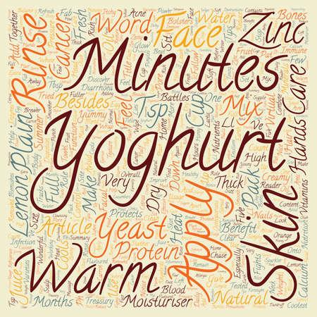 Yoghurt The Coolest Sparkler text background wordcloud concept
