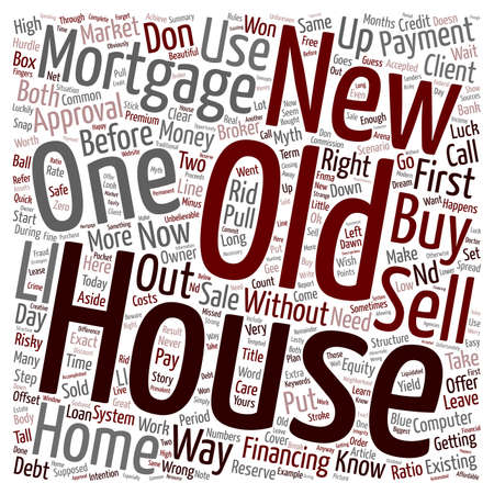 supposed: You CAN Buy Your New Home Before You Sell Your Old One text background wordcloud concept