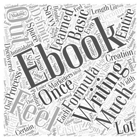 Writing an ebook Word Cloud Concept