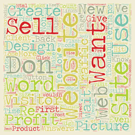 Why Will You Fail When You Create a Website text background wordcloud concept