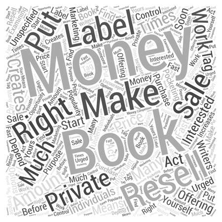 unspecified: Writers Make Money with Private Label Resell E Books Word Cloud Concept Illustration